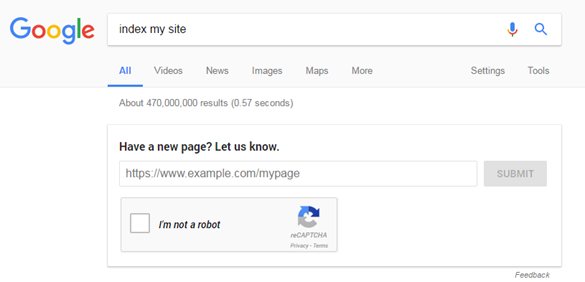 how to index website on google