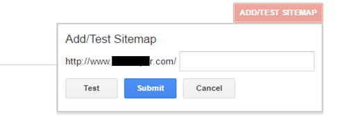 sitemap submission step 2