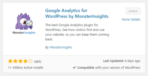 analytics plugin by monster insights