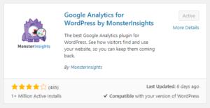 analytics plugin by monster insights