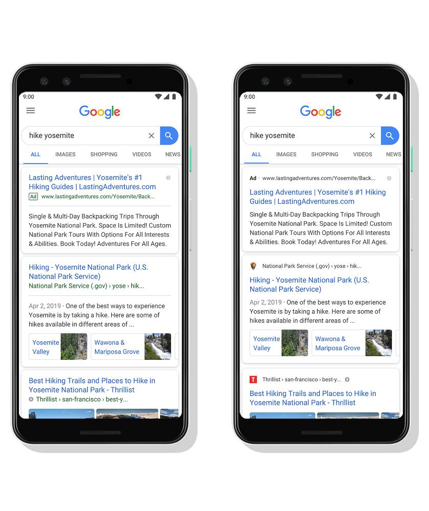 google mobile favicon update
